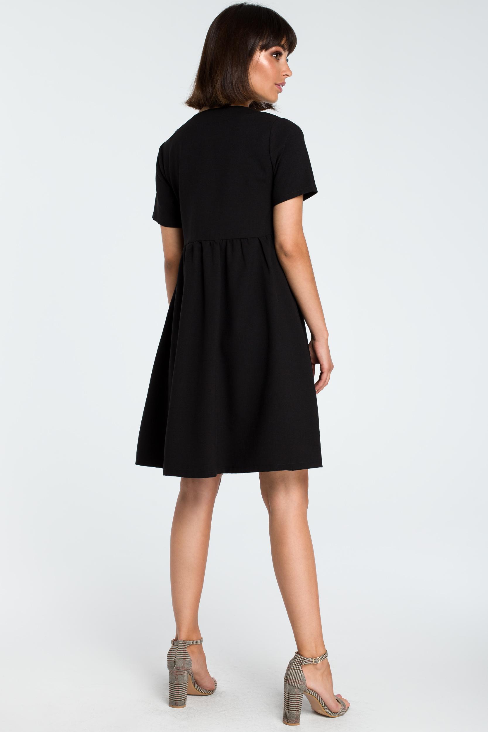 CM3757 Sukienka mini odcinana pod biustem - czarna