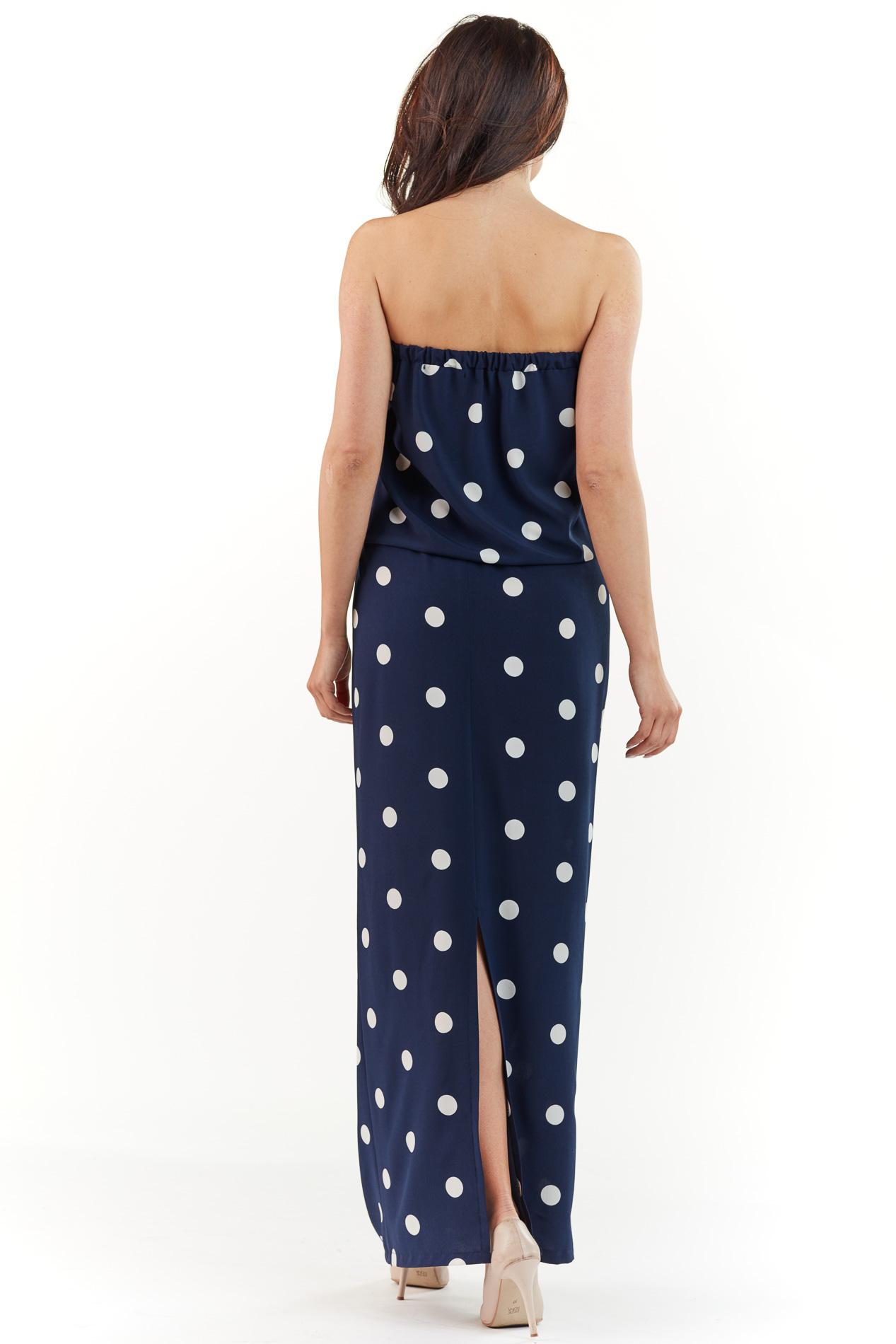 CM3760 Stylowa sukienka maxi bez pleców