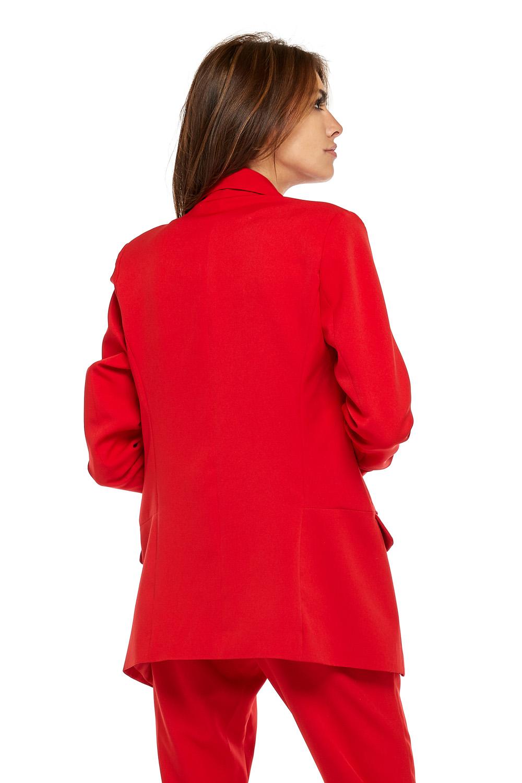 CM3768 Elegancka marynarka damska - czerwona