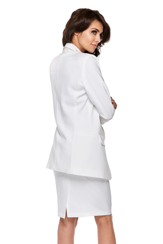 CM3774 Ołówkowa spódnica biurowa - biała