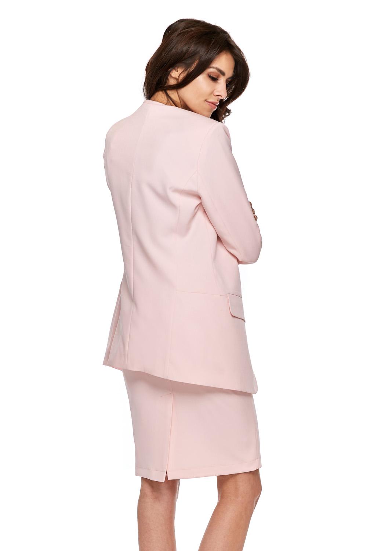 CM3774 Ołówkowa spódnica biurowa - różowa