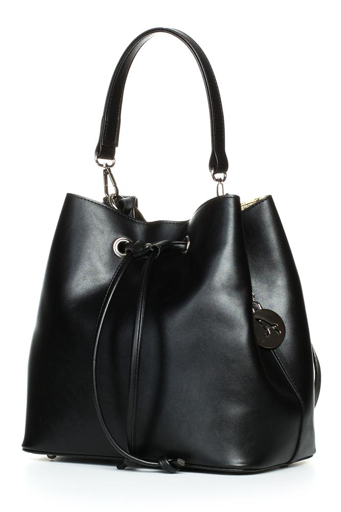 CM3832 Biurowa torba na ramię i do ręki - czarna