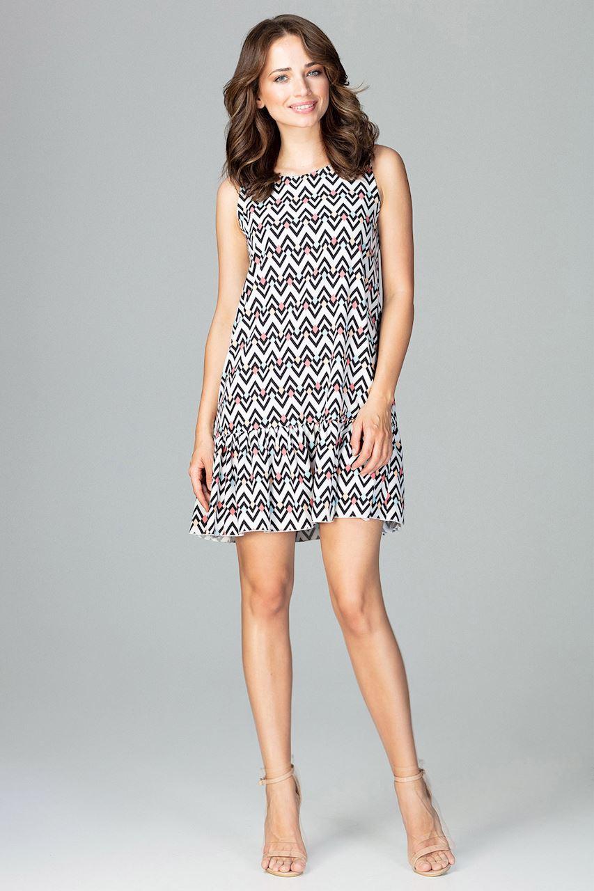 CM3784 Zwiewna sukienka z falbanką - wzór 97