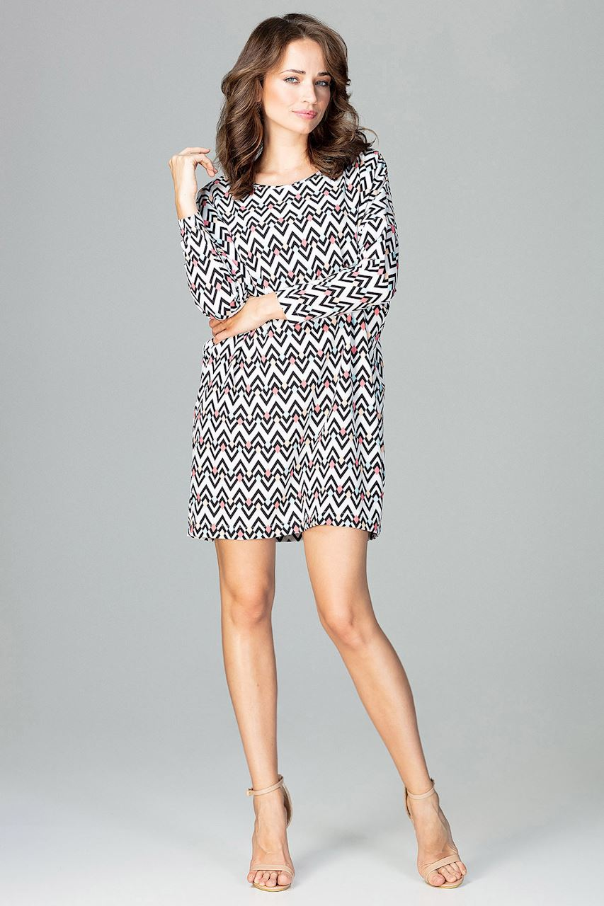 6c0f3db99b CM3786 Modna sukienka w geometryczny wzór - wzór 97 ...