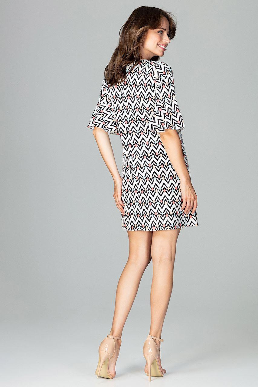 CM3787 Sukienka z rękawem wykończonym falbanką - wzór 97
