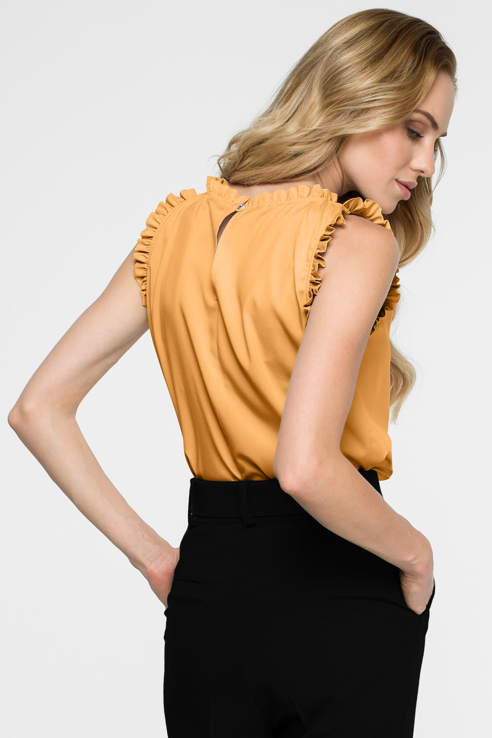 CM3850 Bluzka z falbankami - żółta