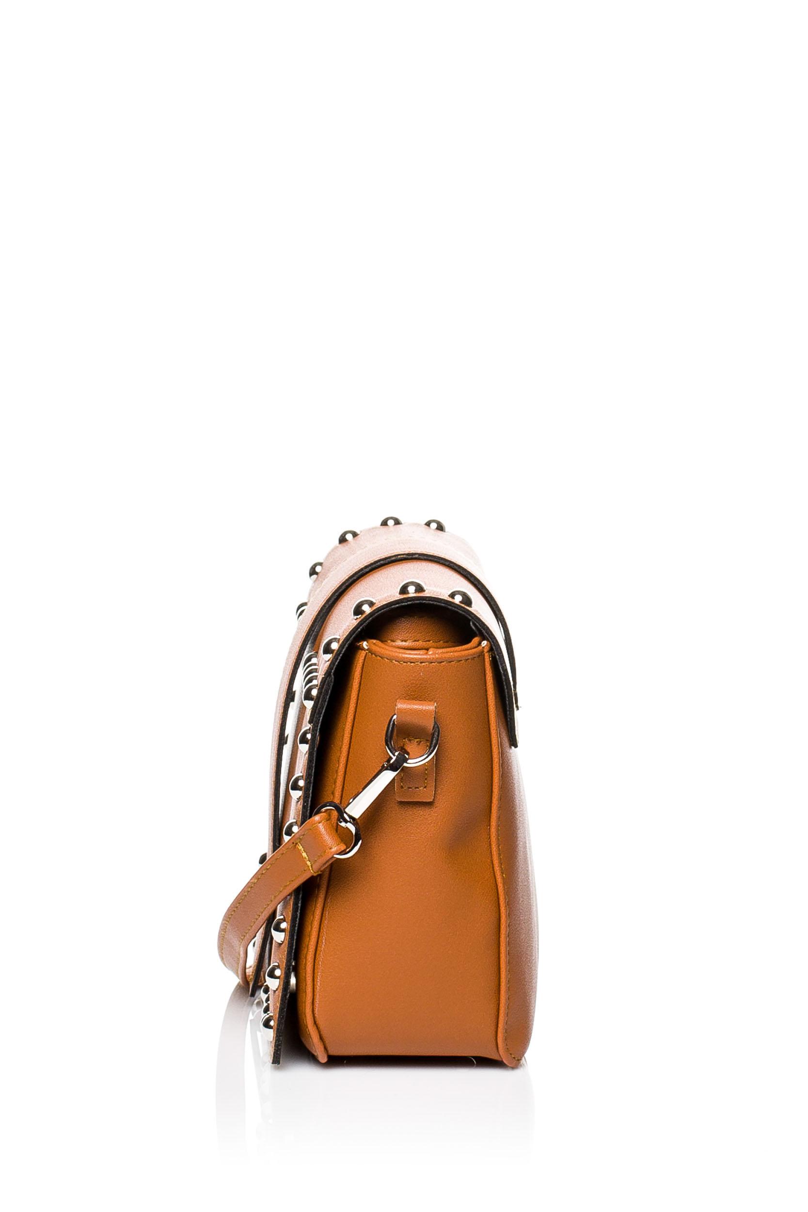 CM3575 Damska torebka z ozdobnymi nitami - ruda