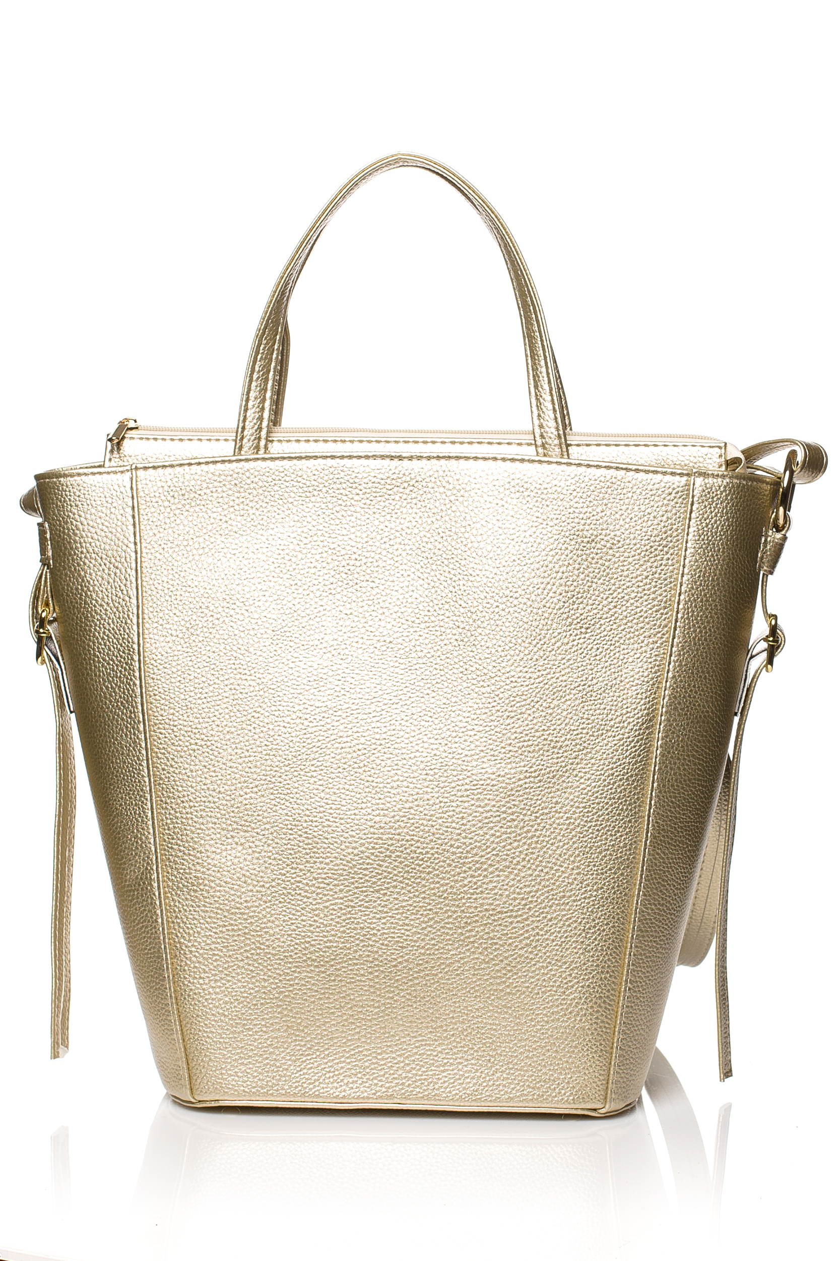 CM3830 Klasyczna torebka na ramię - złota