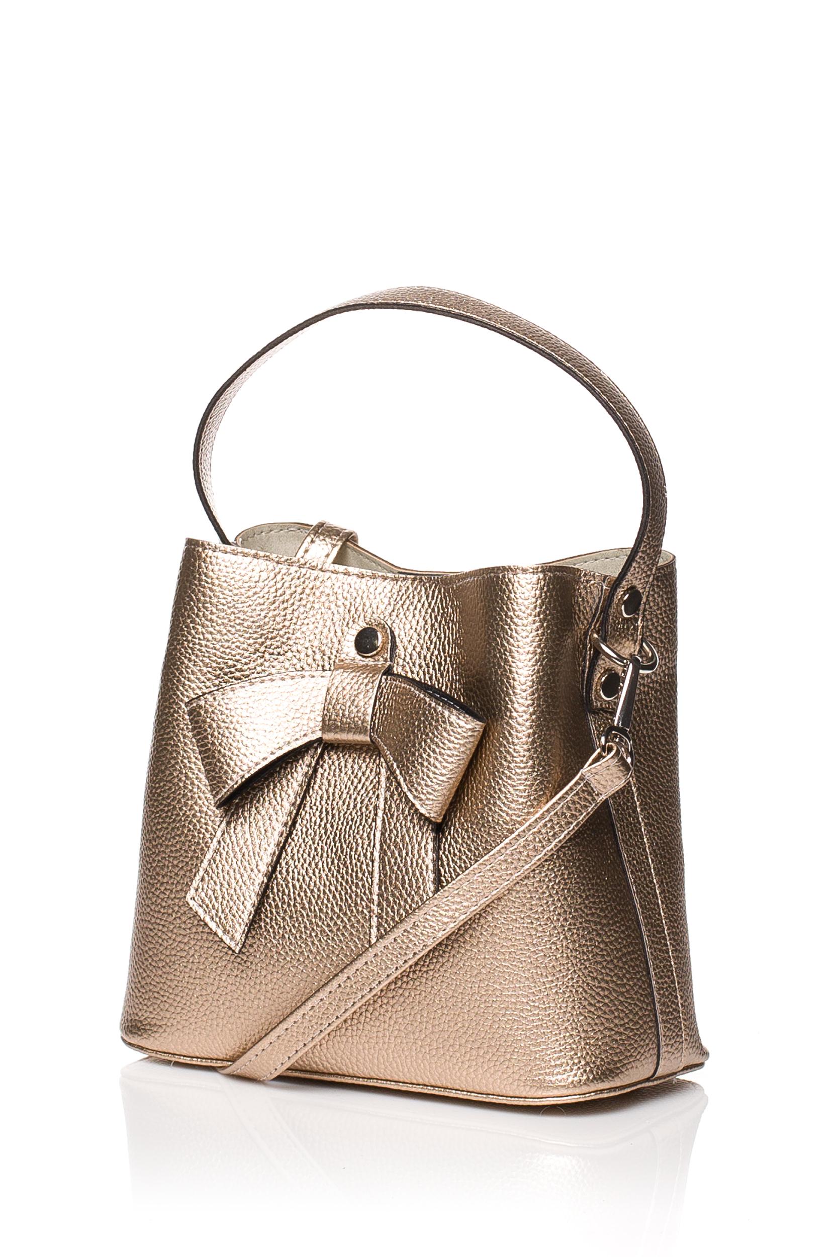 CM3833 Elegancka torebka z kokardką - miedziana