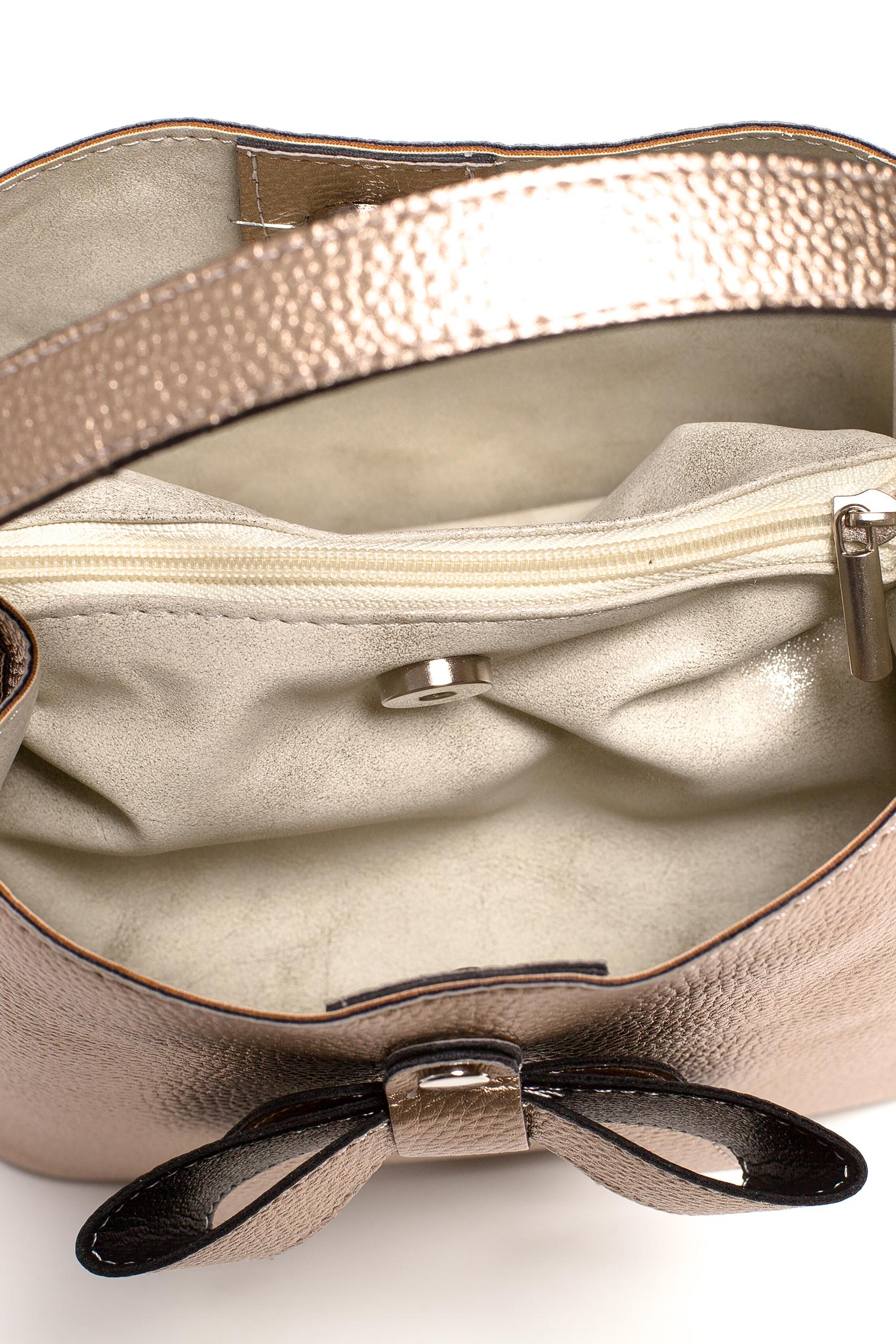 da62331433c89 ... CM3833 Elegancka torebka z kokardką - miedziana
