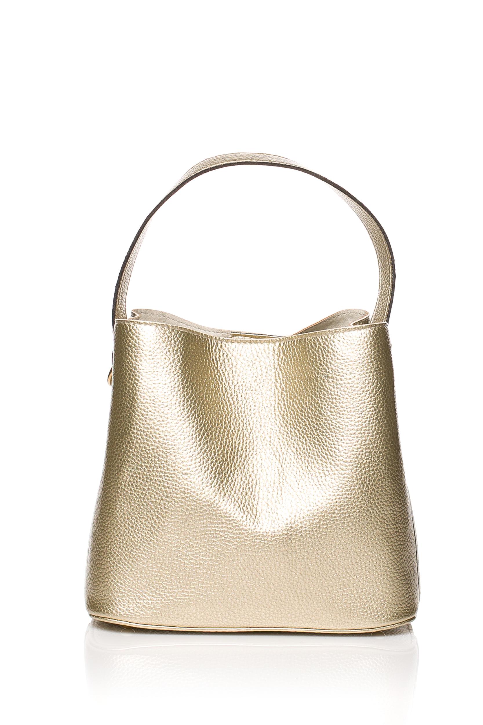 CM3833 Elegancka torebka z kokardką - złota