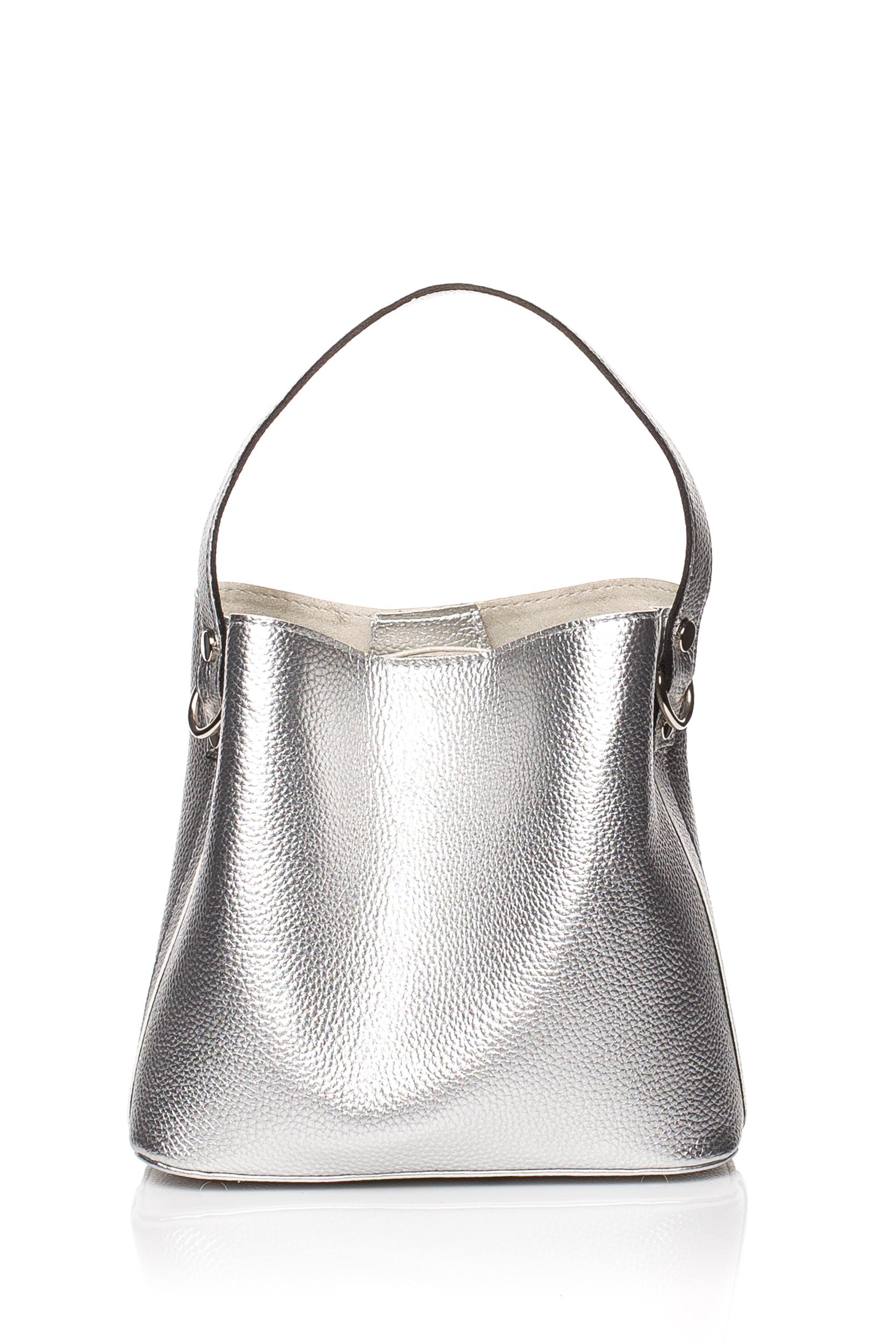 CM3833 Elegancka torebka z kokardką - srebrna