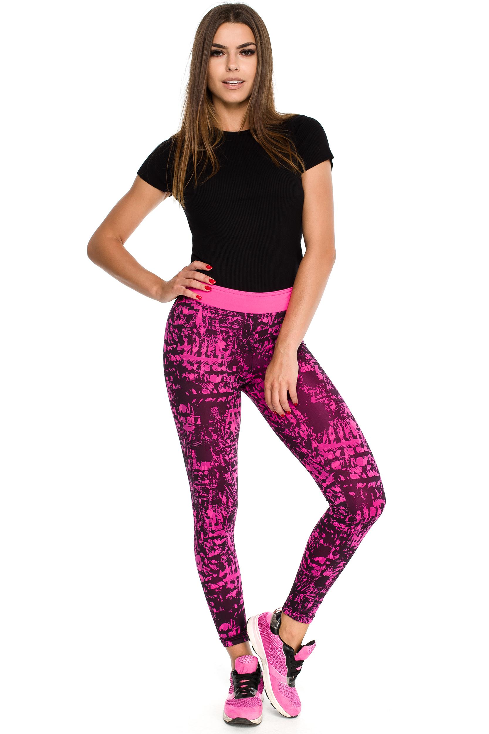 CM3907 Dopasowane sportowe legginsy na fitness