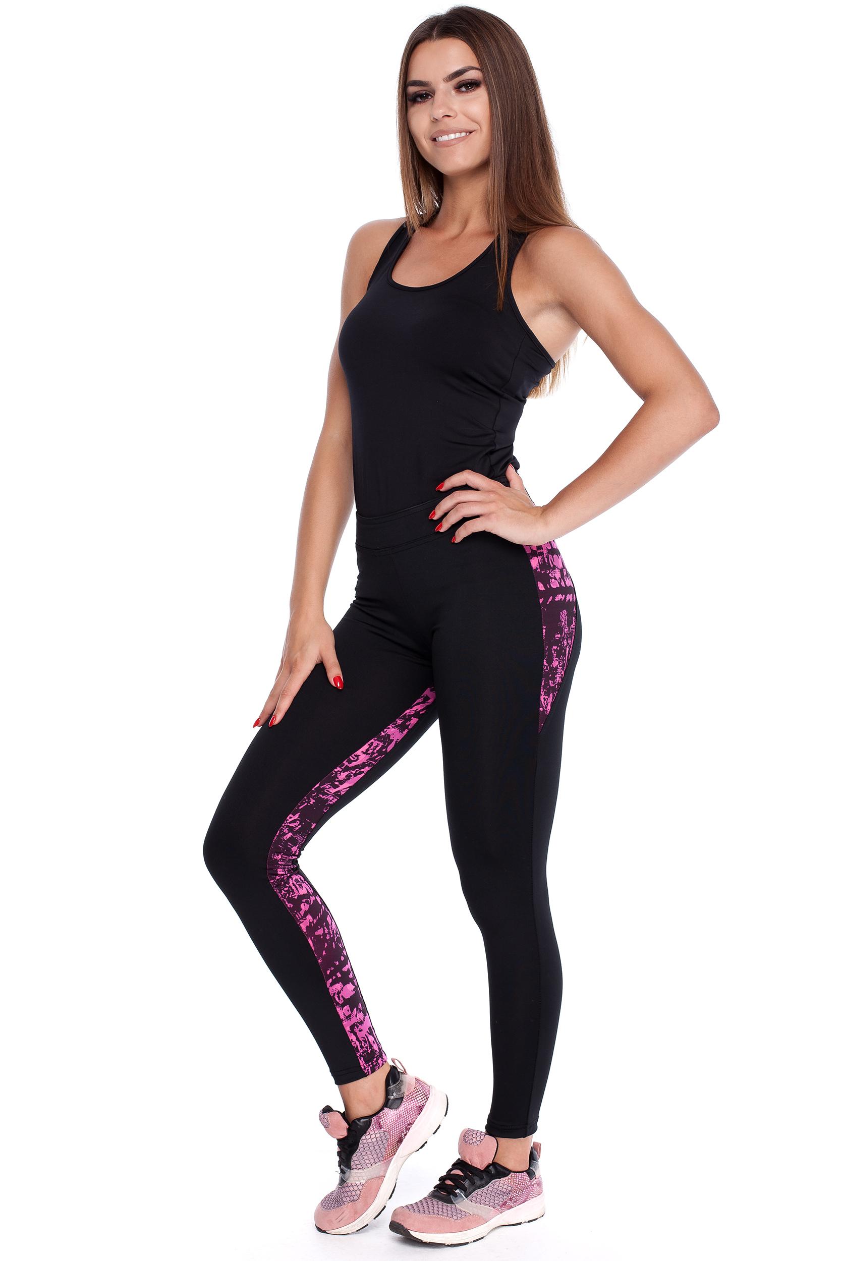 CM3916 Kobiece legginsy ze stylowymi wstawkami
