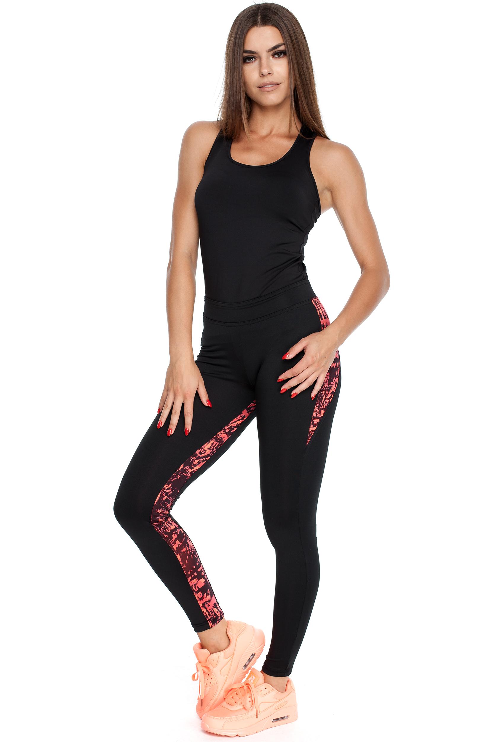 CM3917 Dopasowane legginsy ze stylowymi wstawkami