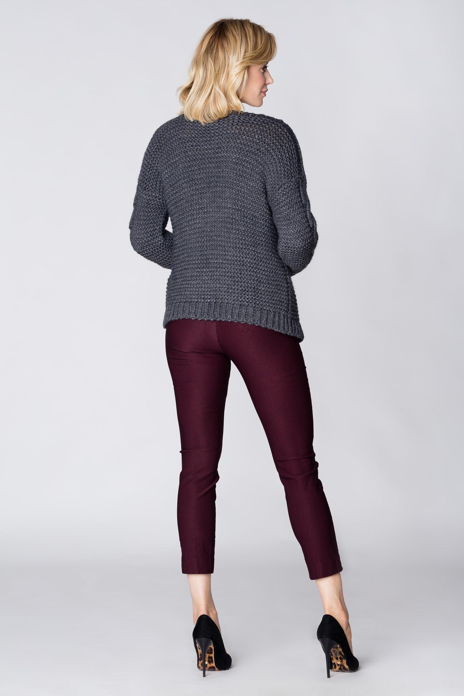 CM3885 Niezapinany uniwersalny sweter - grafitowy