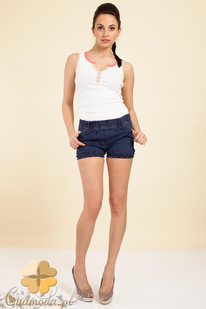 CM0263 Włoskie krótkie szorty spodenki jeans