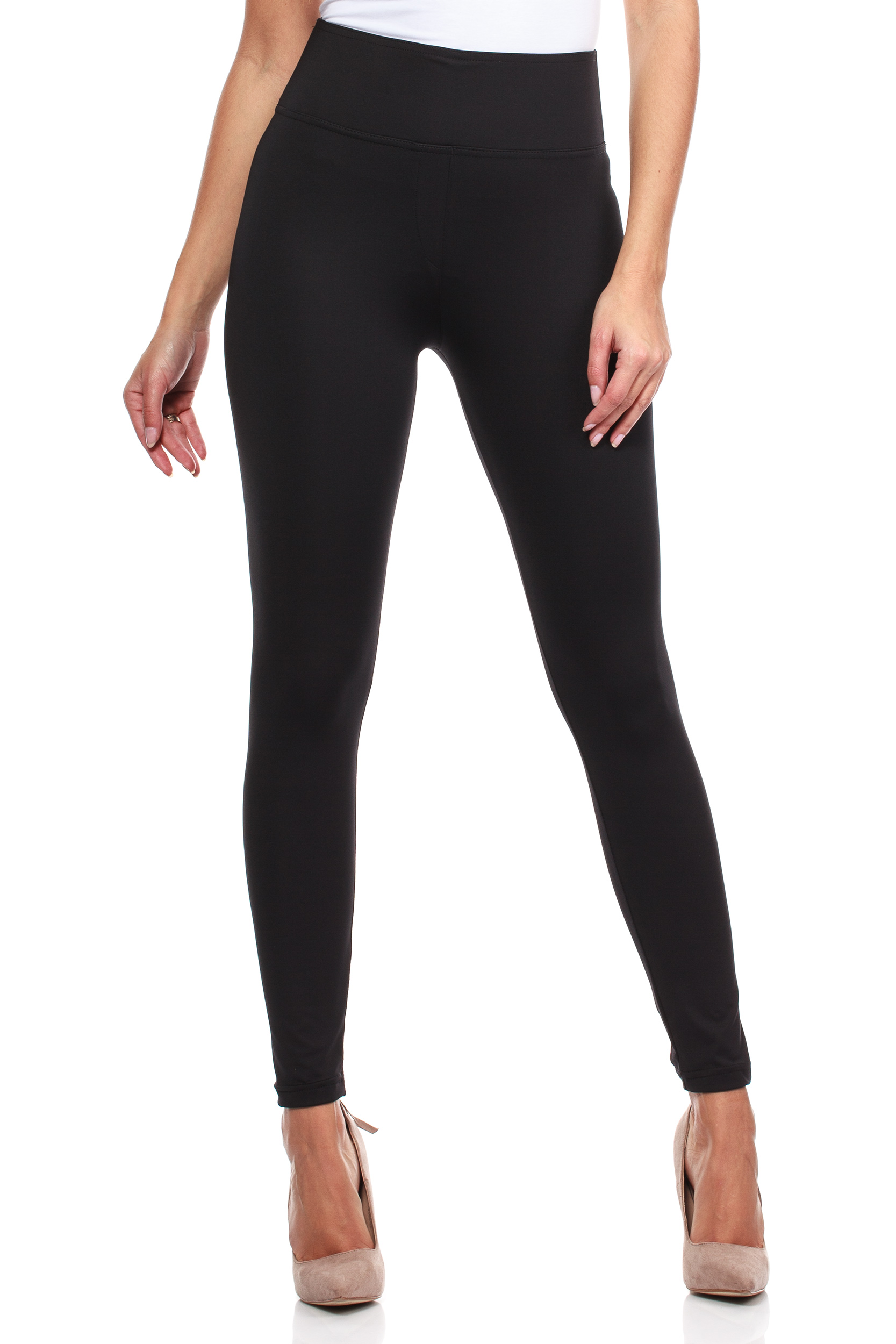 CM3950 Dopasowane legginsy antycellulitowe plus size - czarne