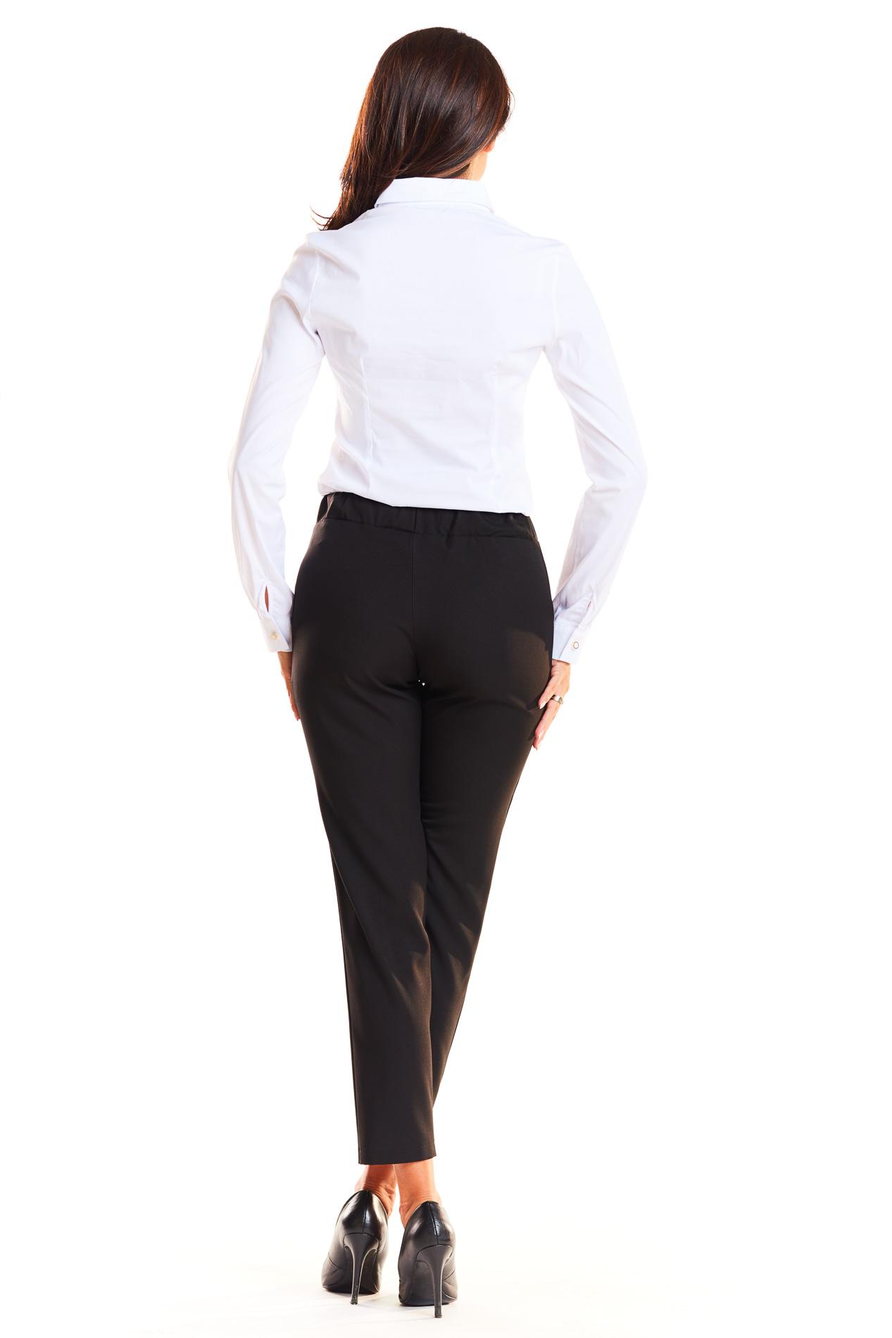 CM3935 Klasyczne biurowe spodnie - czarne