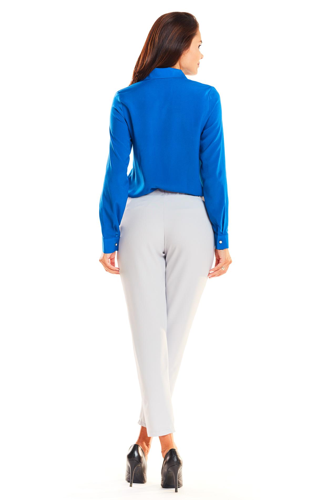 CM3935 Klasyczne biurowe spodnie - szare
