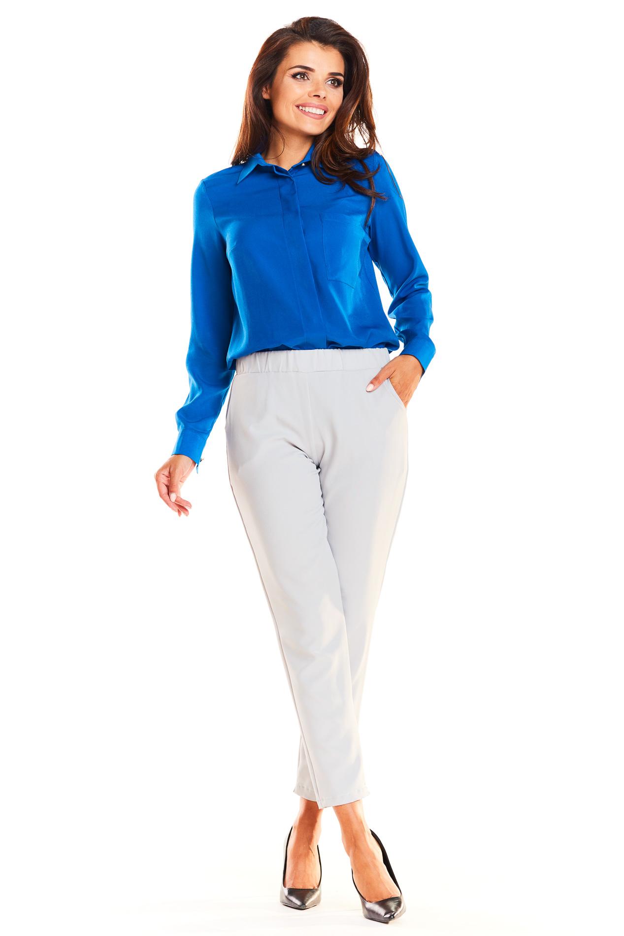 CM3942 Klasyczna koszula biurowa - niebieska