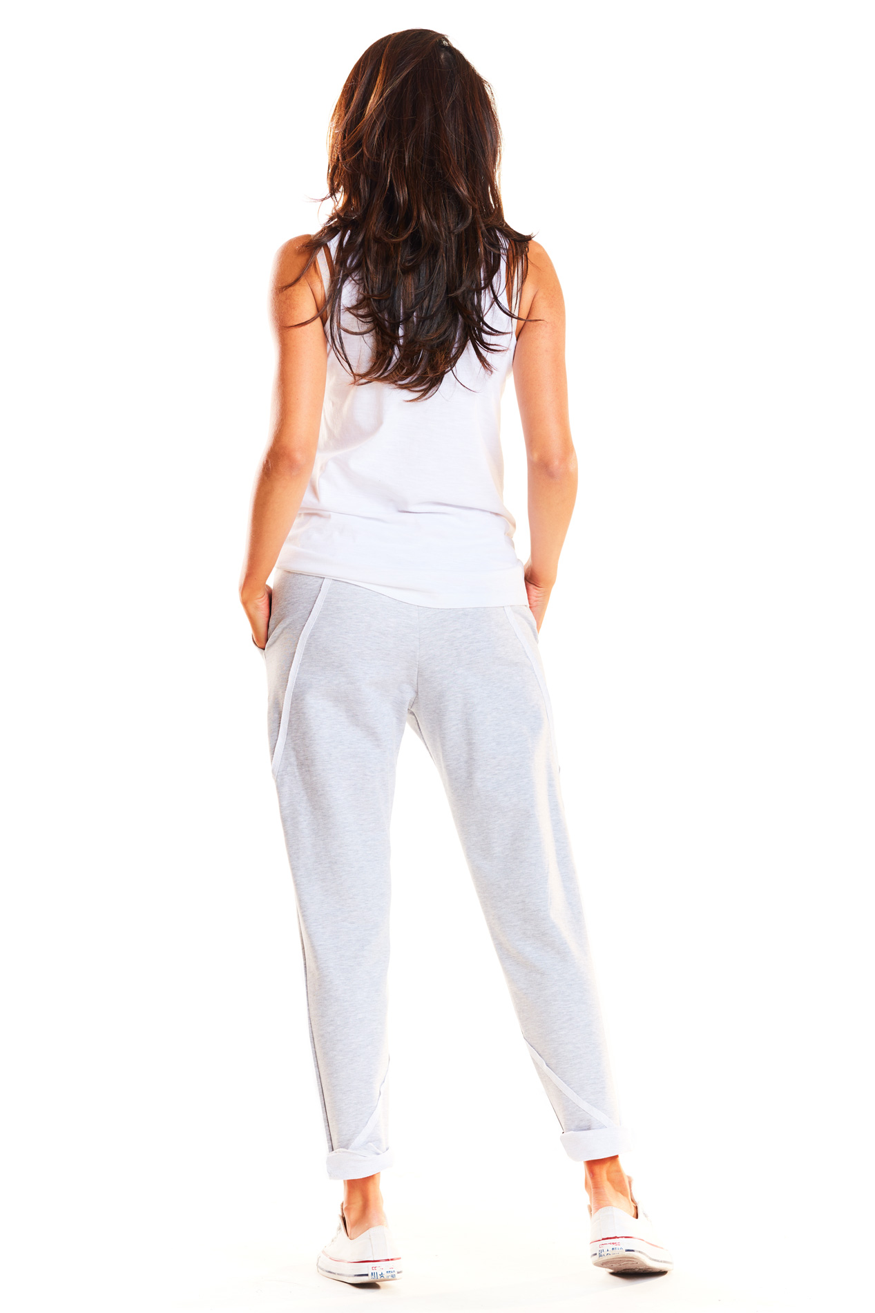 CM3966 Spodnie dresowe rurki - szare