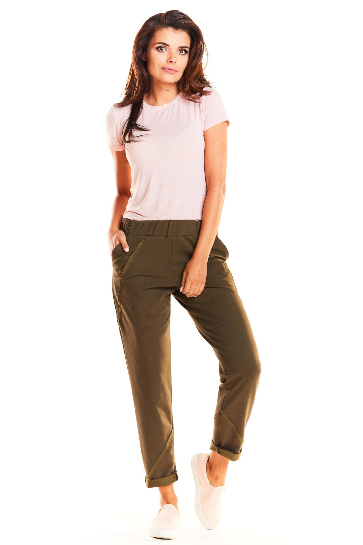 CM3966 Spodnie dresowe rurki - khaki