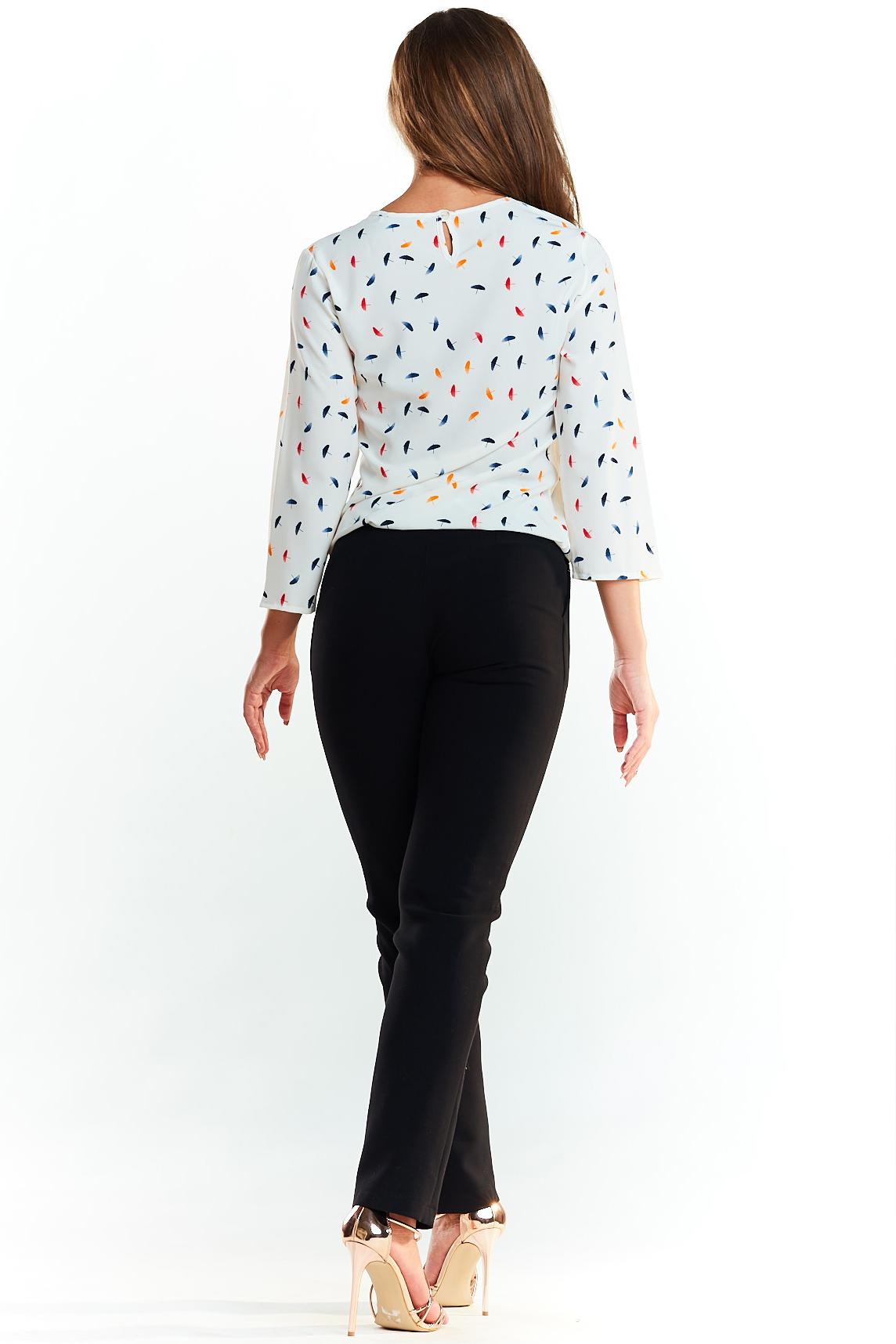 CM3977 Klasyczna elegancka bluzka - kolorowe parasolki