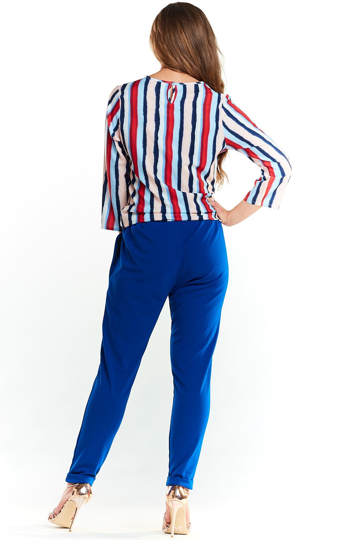 CM3977 Klasyczna elegancka bluzka - paski