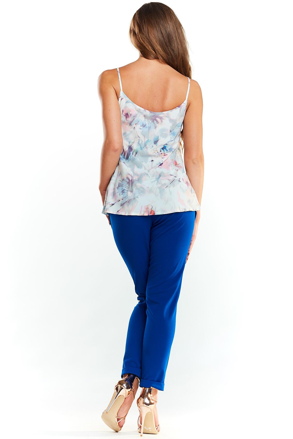 CM3980 Zwiewna bluzka na ramiączkach - kwiaty