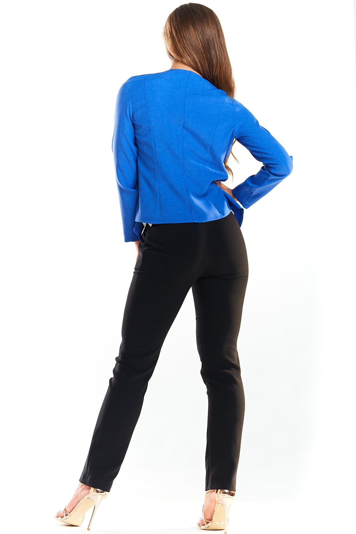 CM4021 Elegancki niezapinany żakiet - niebieski