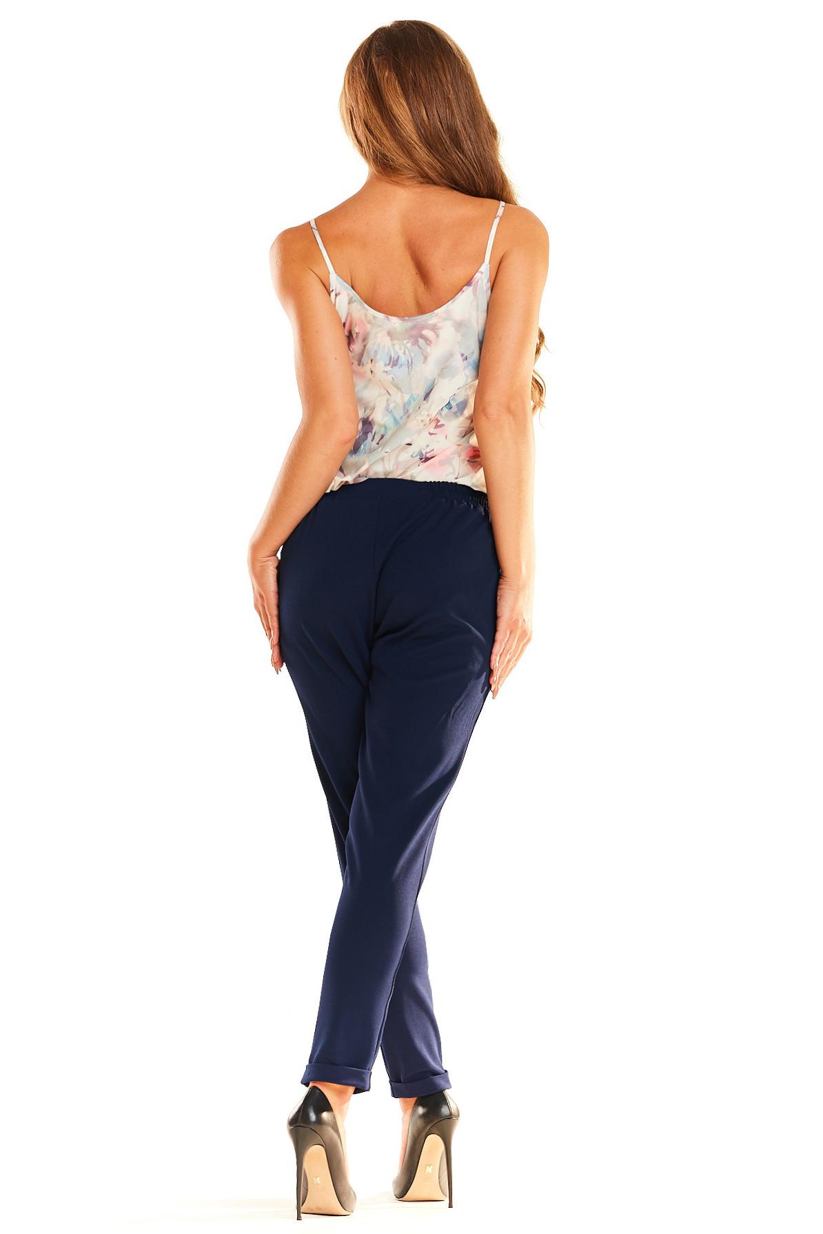 CM4042 Eleganckie kobiece spodnie - granatowe