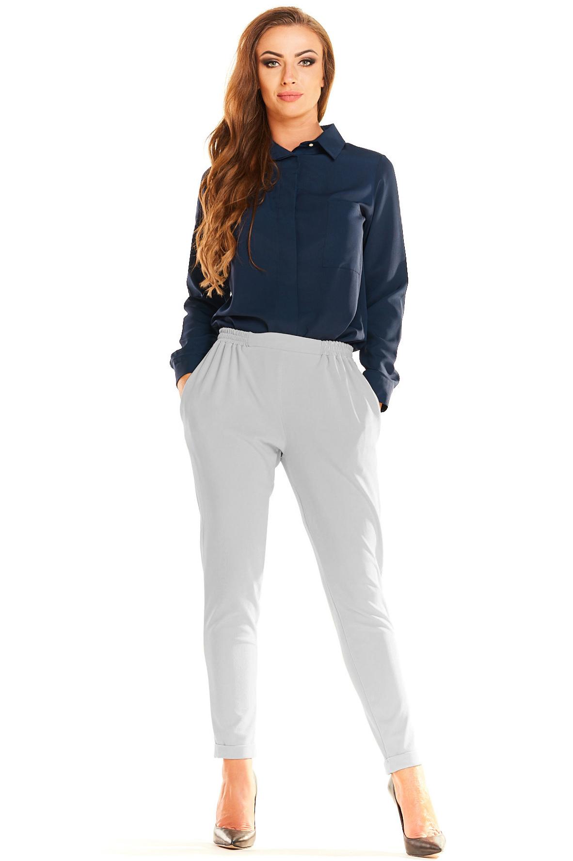 CM4042 Eleganckie kobiece spodnie - szare