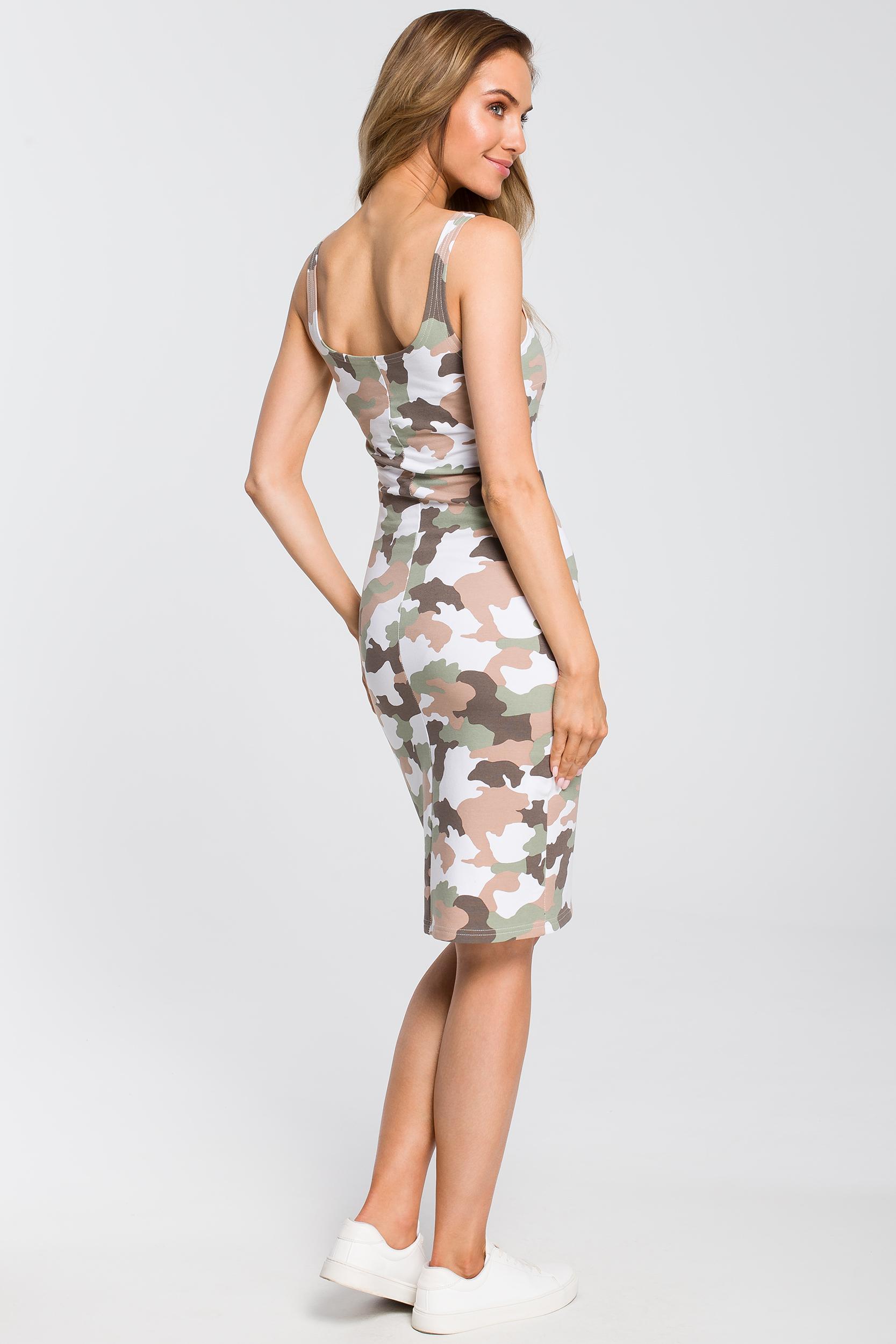 CM4094 Dopasowana sukienka moro - model 2