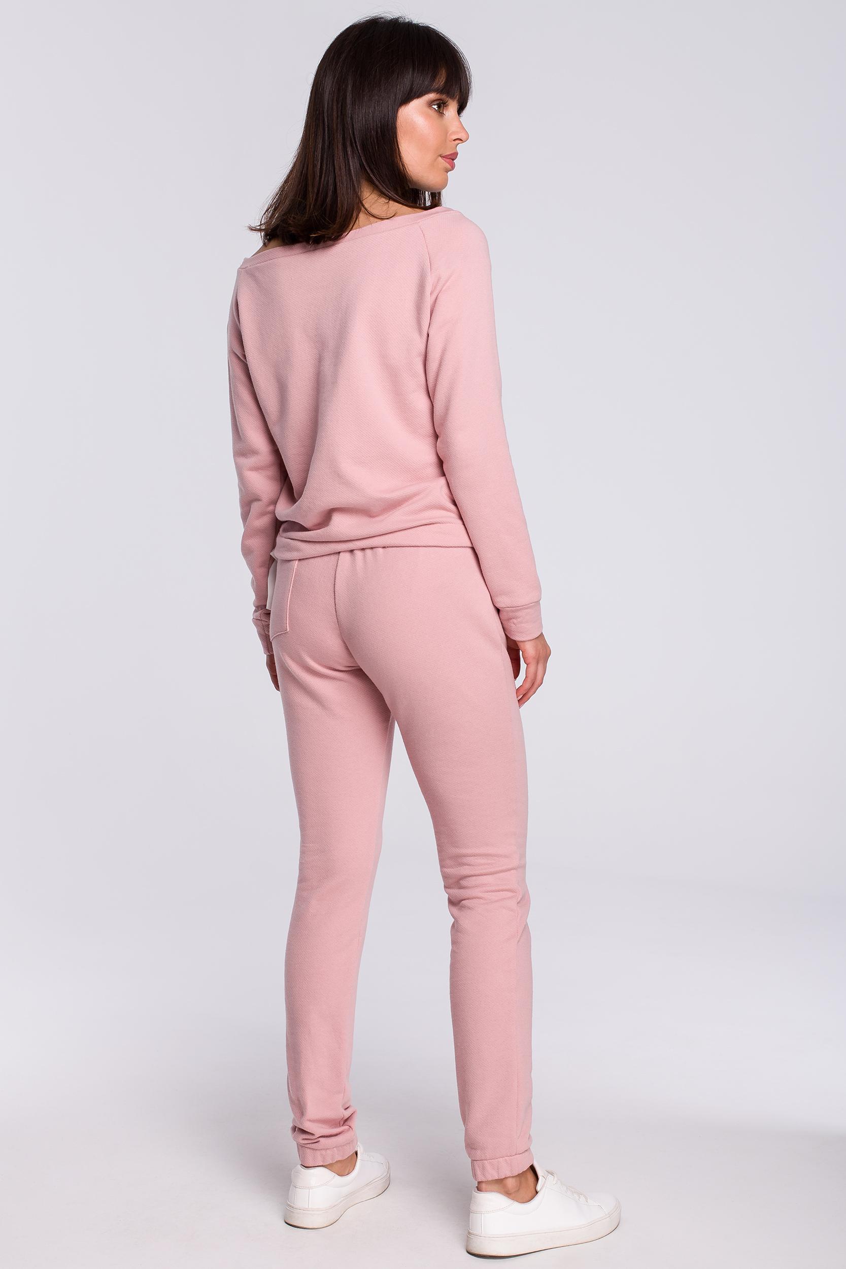 CM4121 Spodnie joggery - pudrowe