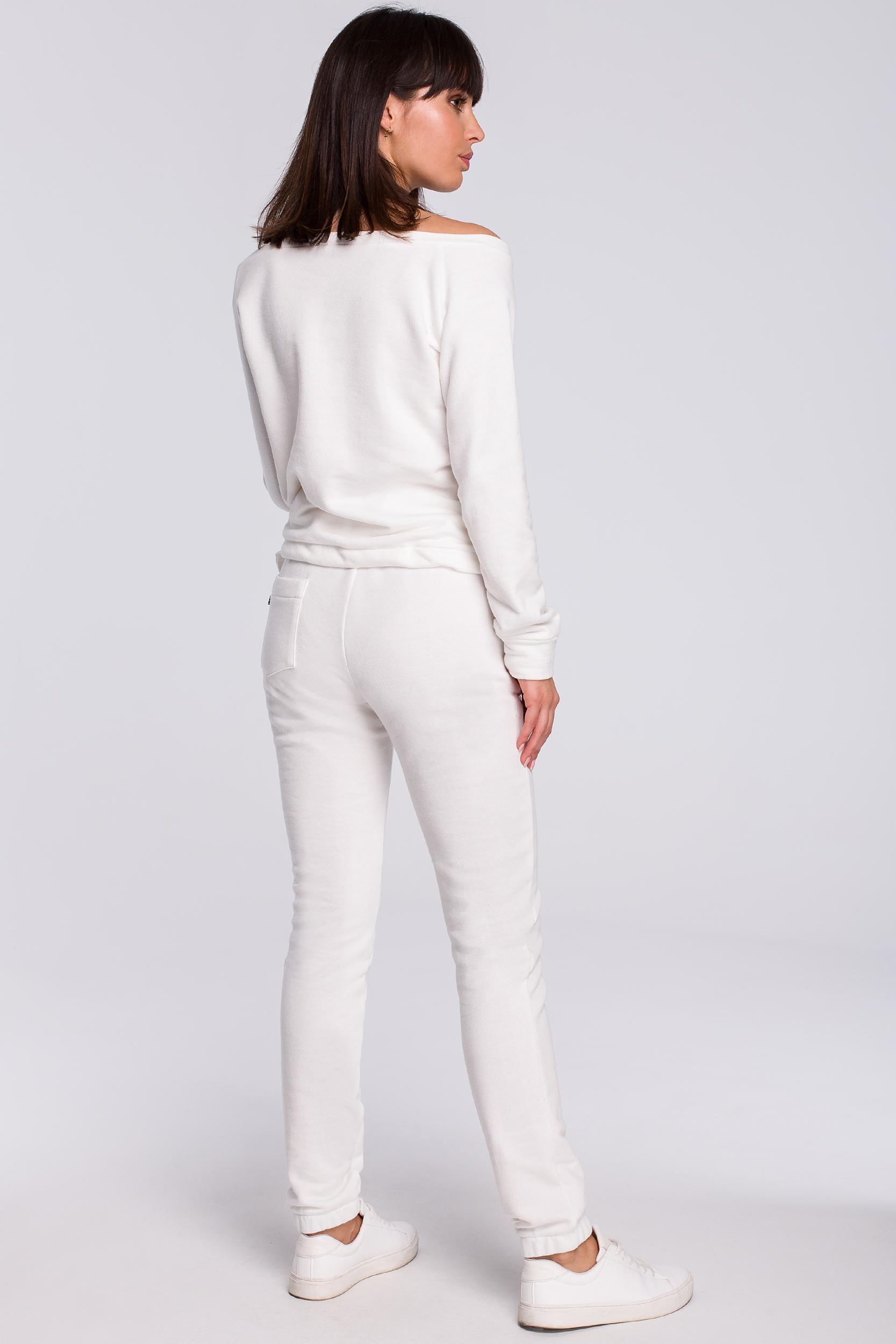 CM4121 Spodnie joggery - ecru