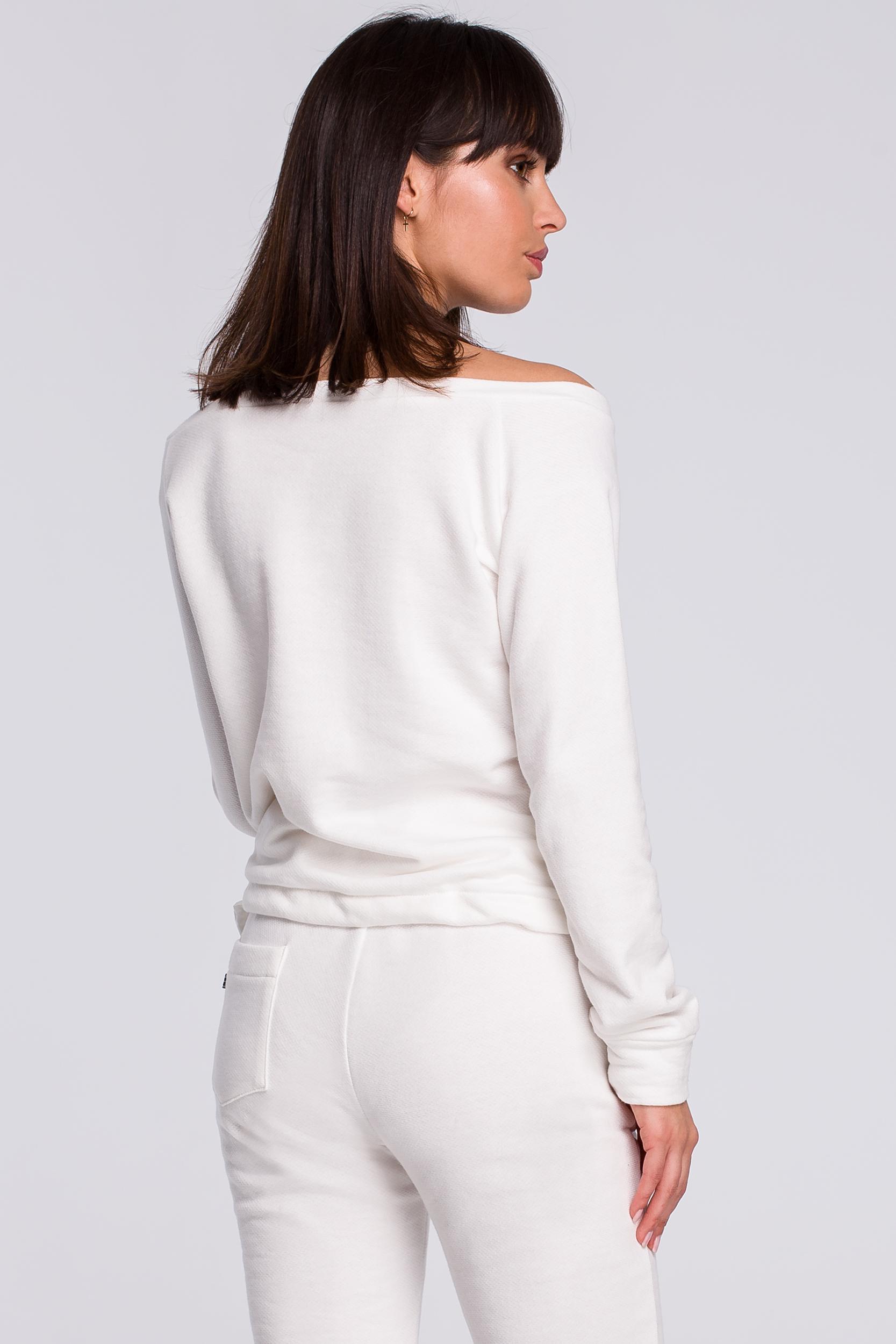 CM4122 Bluza z wiązaniem - ecru