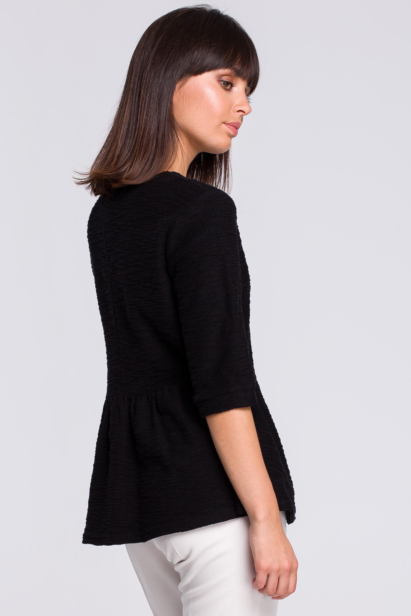 CM4123 Bluzka z baskinką - czarna