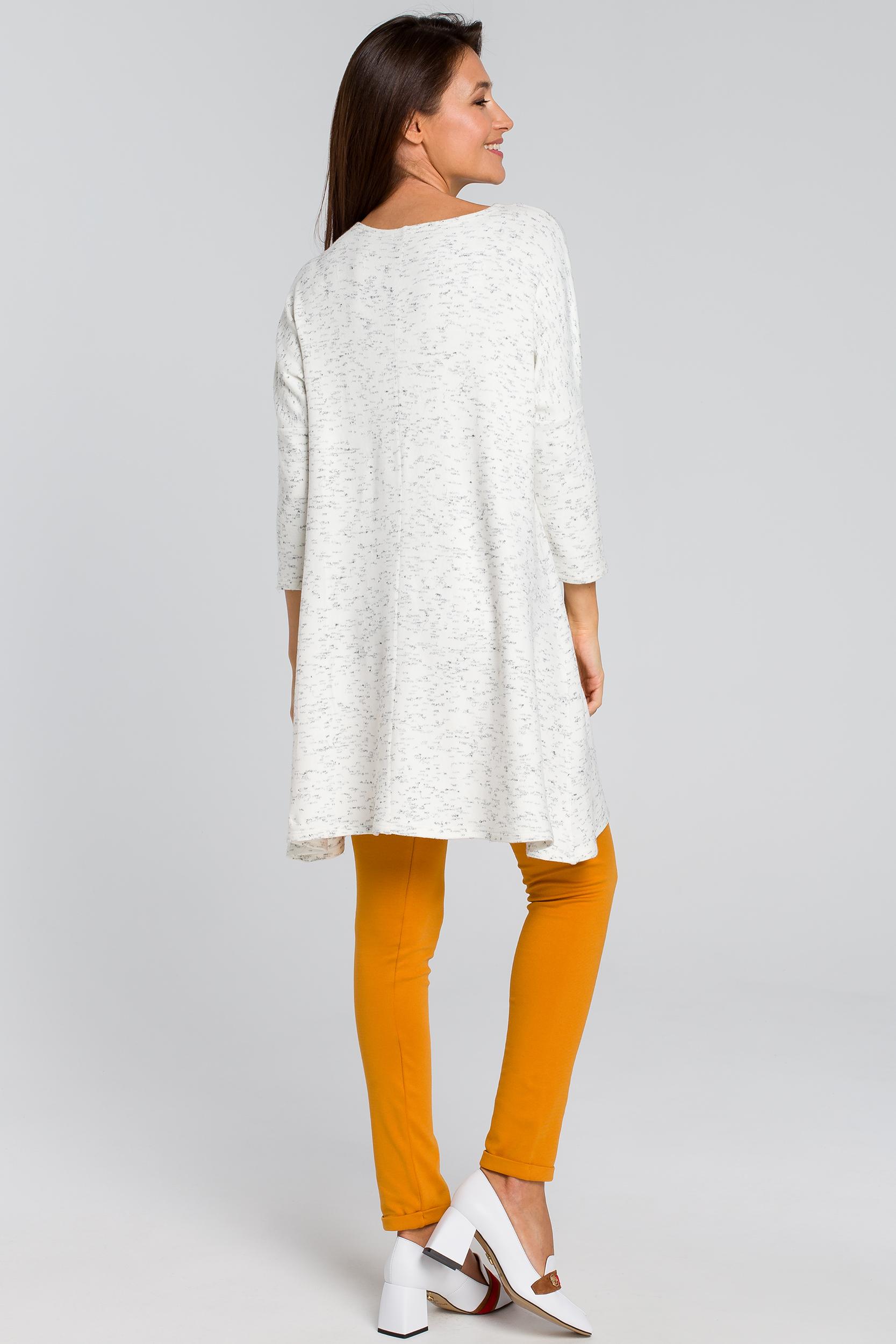 CM4139 Dzianinowa tunika swetrowa - ecru