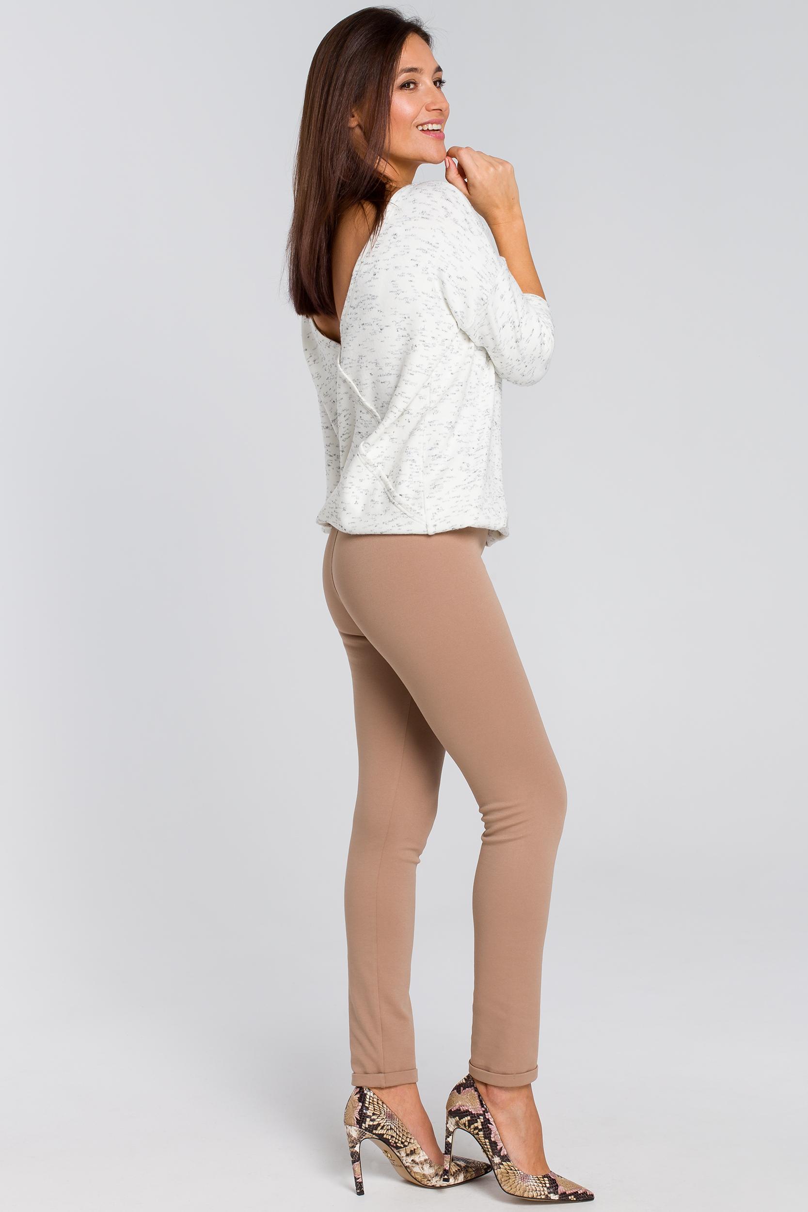 CM4143 Proste spodnie typu rurki - beżowe