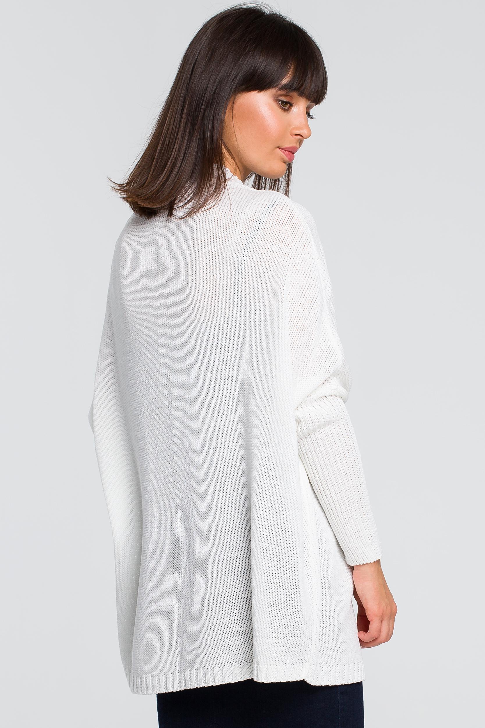 CM4154 Kardigan typu oversize - biały