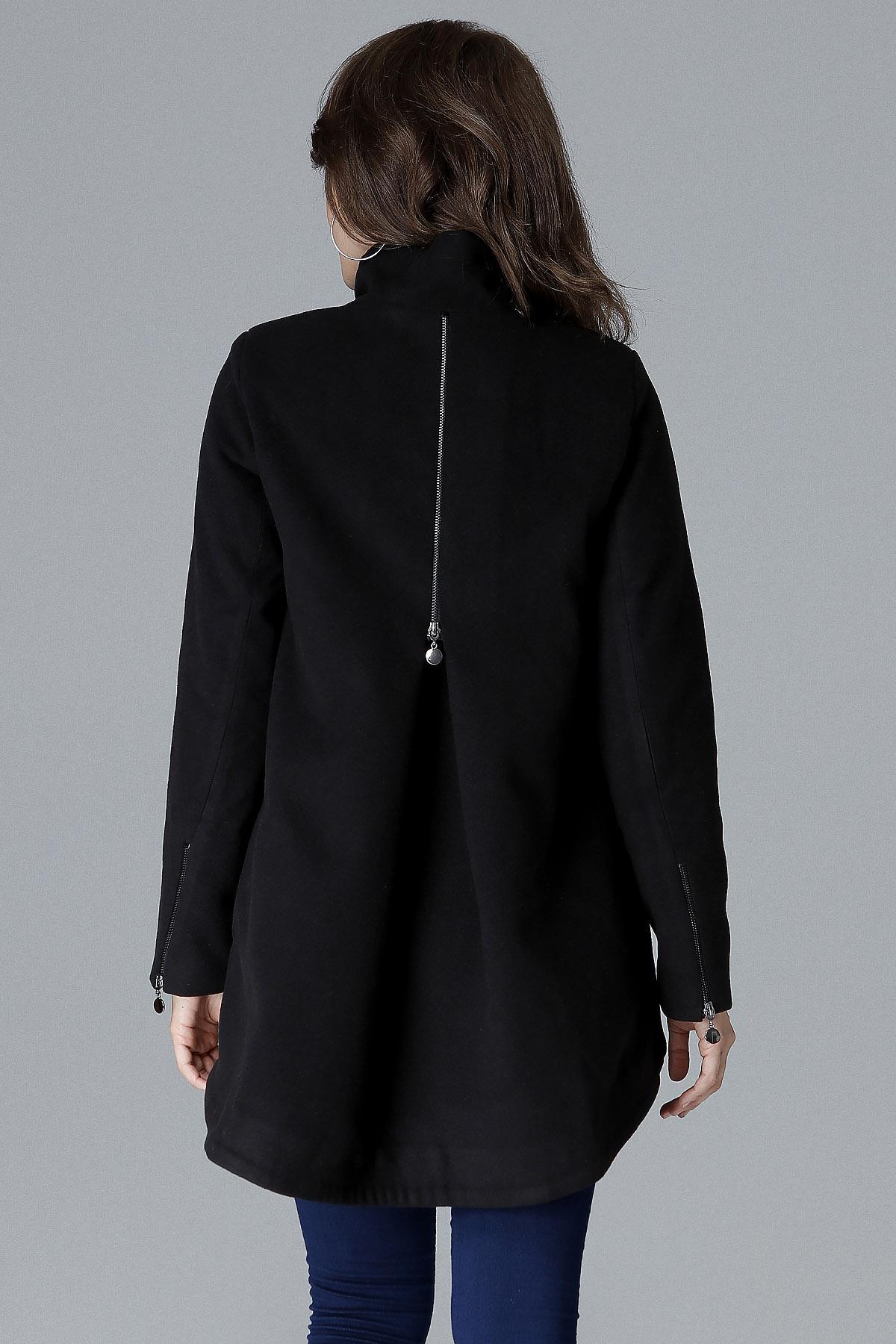 CM4158 Dwurzędowa kurtka zapinana na guziki - czarna