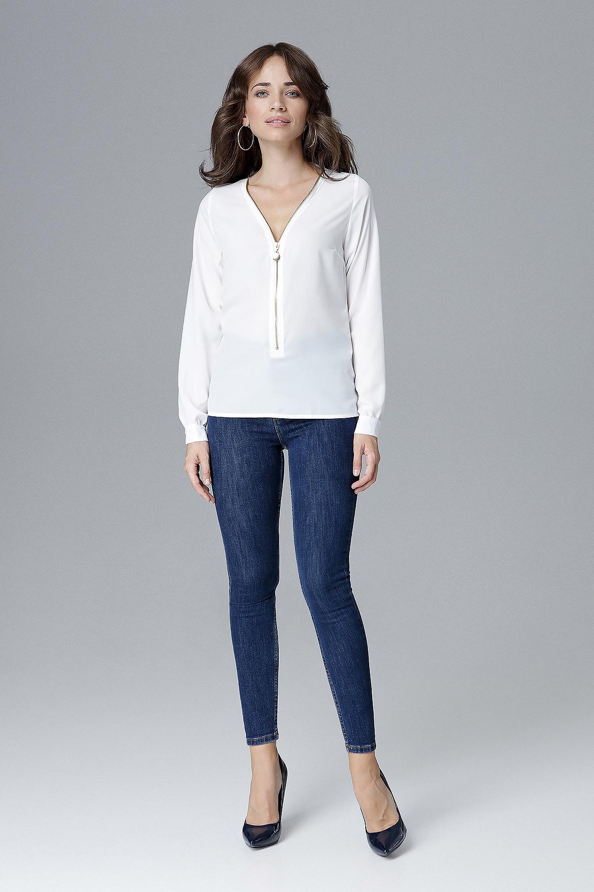 CM4160 Zasuwana bluzka z długim rękawem - ecru