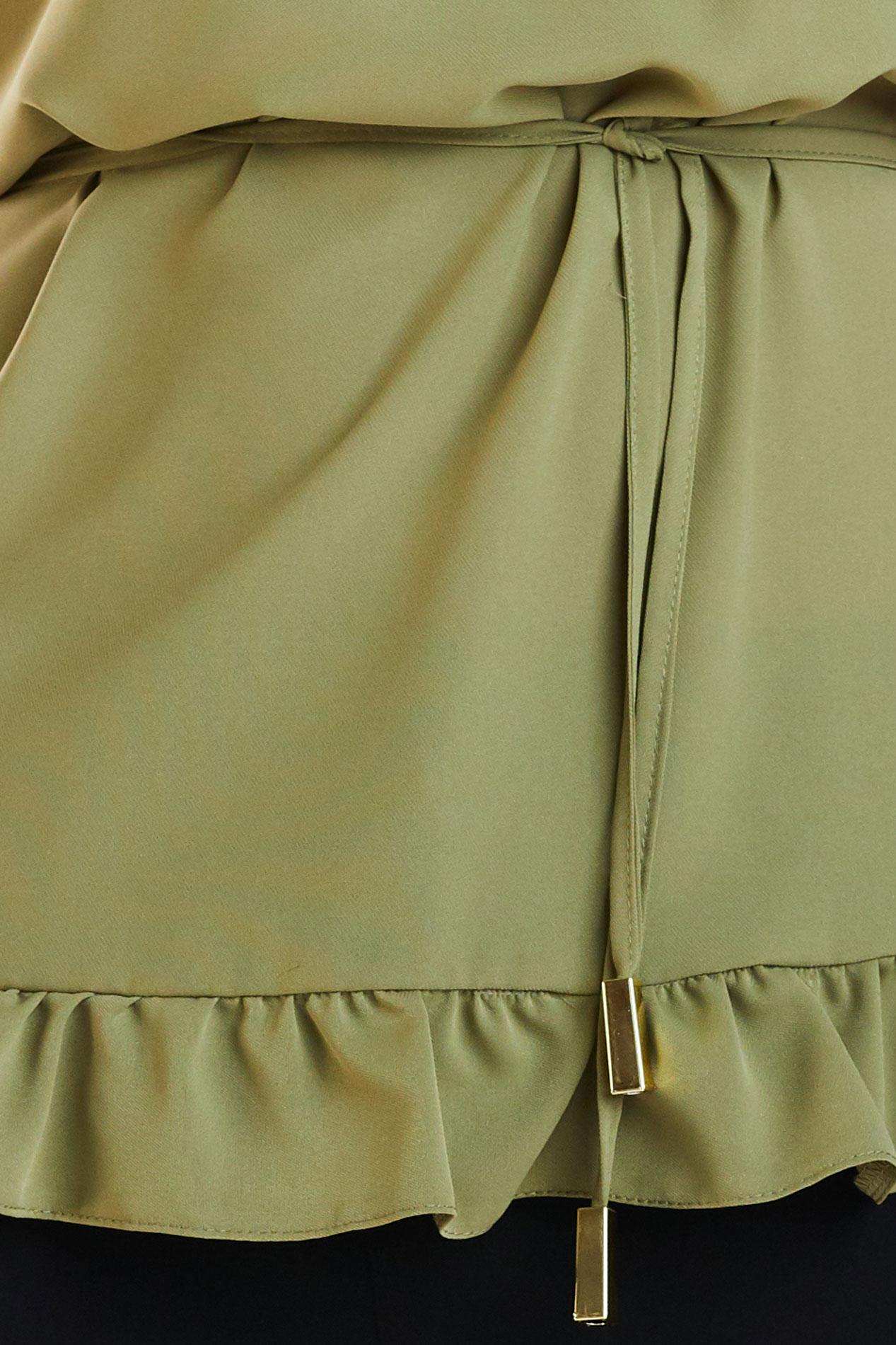 6f93c8b643e9 ... CM4180 Kobieca bluzka z krótkim rękawem - khaki