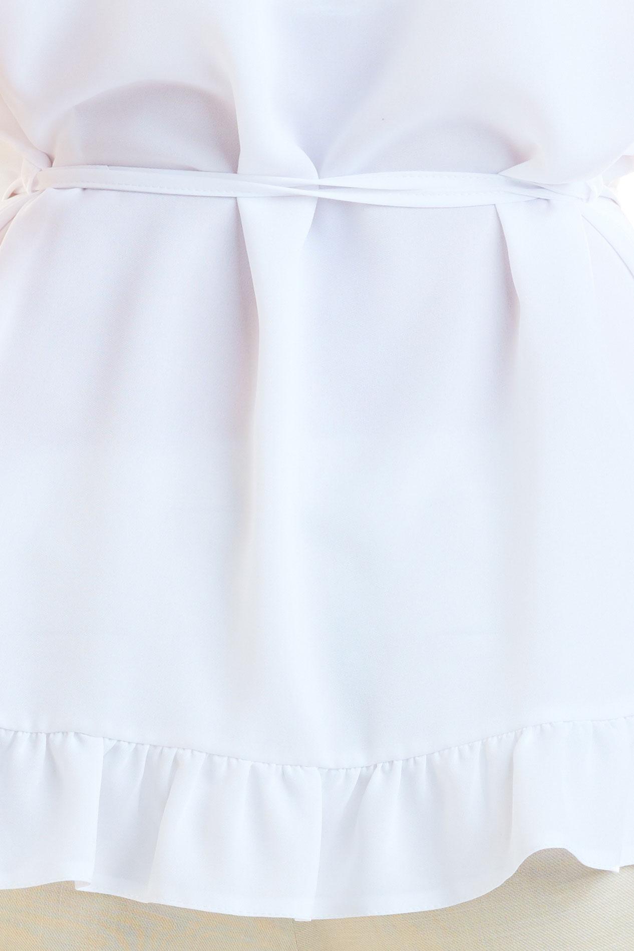 CM4180 Kobieca bluzka z krótkim rękawem - biała