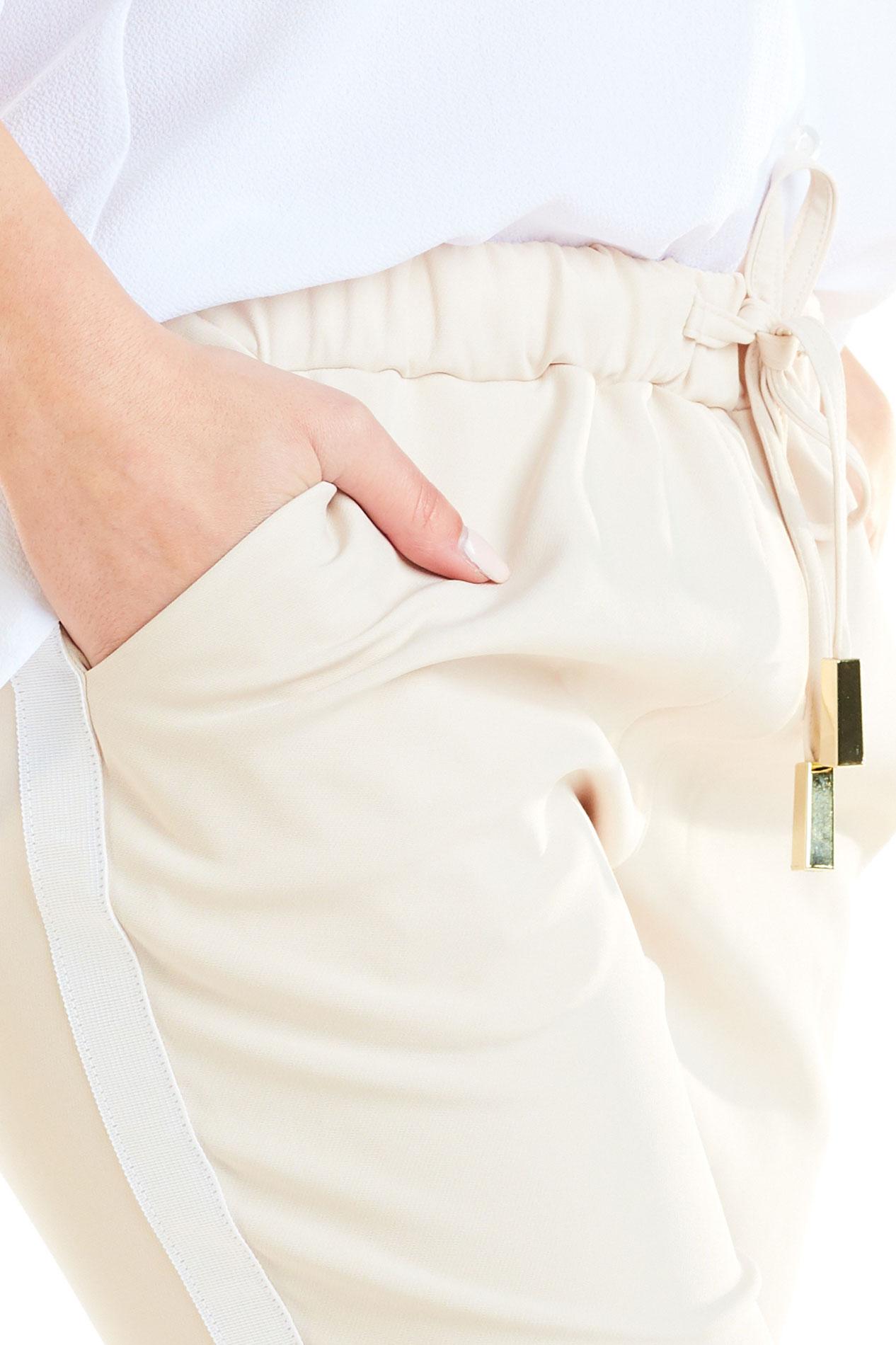 CM4181 Casualowe spodnie na co dzień - beżowa