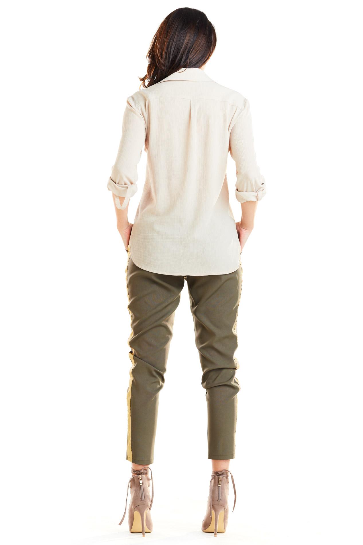 CM4181 Casualowe spodnie na co dzień - khaki