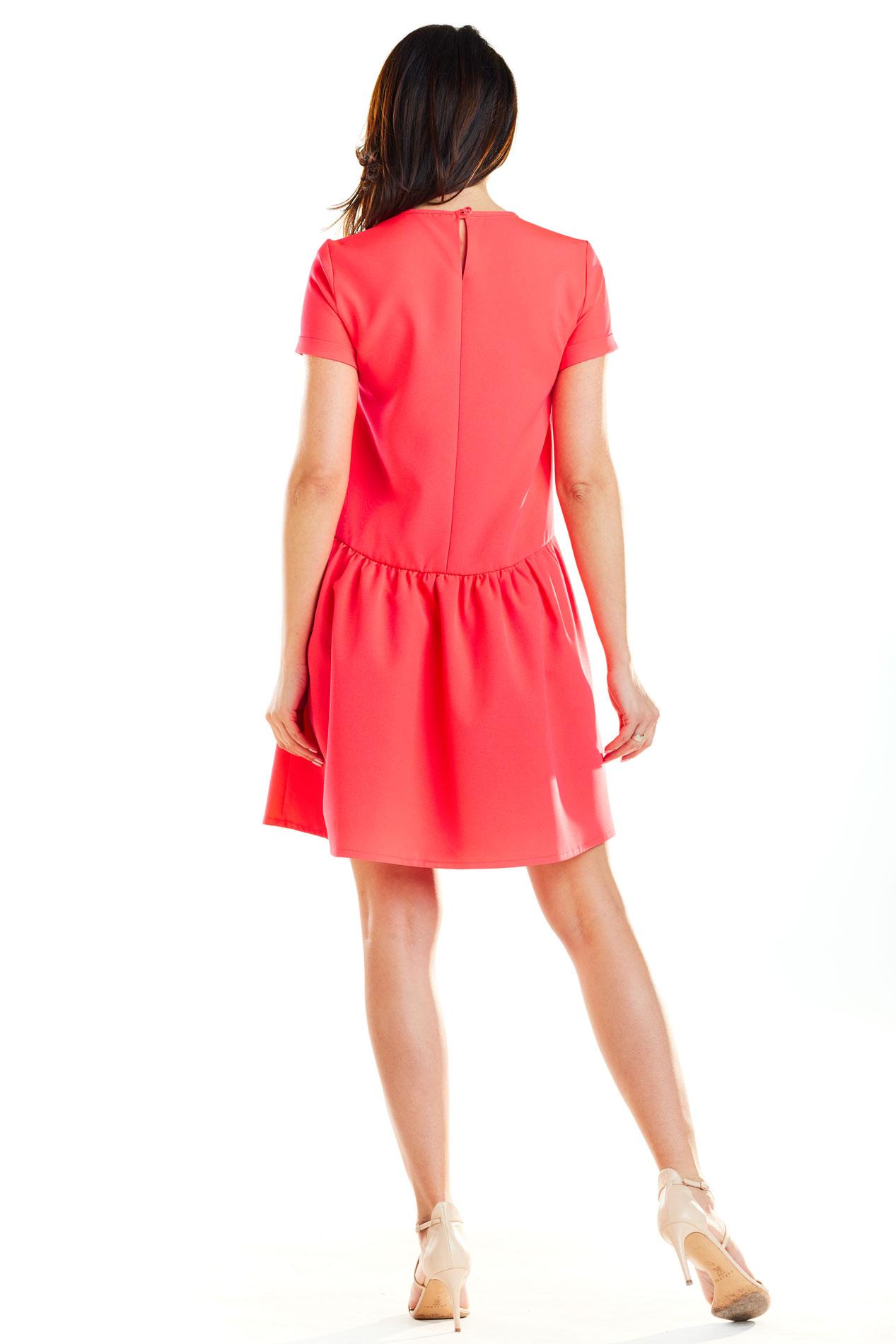 CM4188 Sukienka mini z odcięciem w talii - fuksja