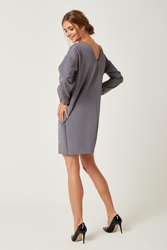 CM4239 Klasyczna sukienka oversize - grafitowa