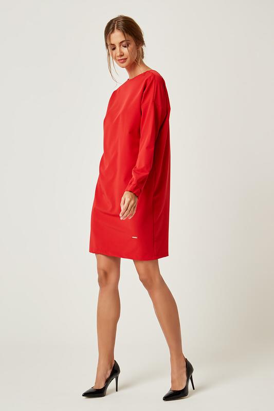 CM4239 Klasyczna sukienka oversize - czerwona